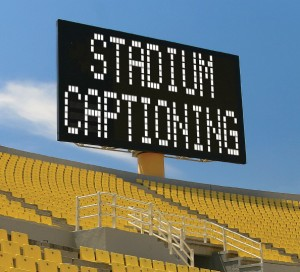 Stadium Captioning