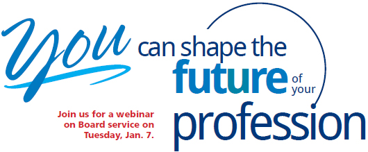 You can shape the future of your profession