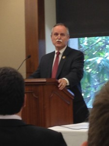 Rep. David McKinley addresses the Friends of the Congressional Hearing Health Caucus