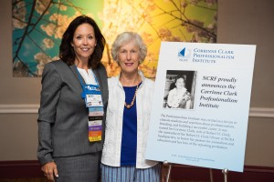 Jan Ballman, NCRF Board of Trustees chair, and Donna Hamer, who donated the funds for the Corrinne Clark Professionalism Institute