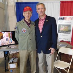 WWII veteran Ray Salvie and Rep. John Katko