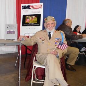 seated image of WWII veteran Donald Fida