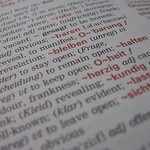 close up of a dictionary page