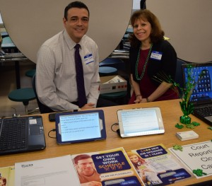 two NCRA members presenting at a career fair