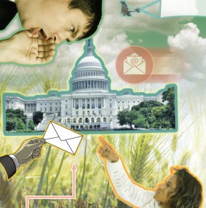 Collage of citizens sending messages to Congress