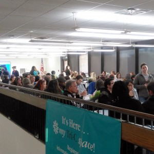 The speed networking session at the Tri-C open house.