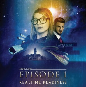Episode 1: Realtime Readiness -- tar Was-themed cover image with reporters, steno machines, and cables