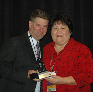 NCRA Director Rick Levy accepts the FCRA Distinguished Service Award