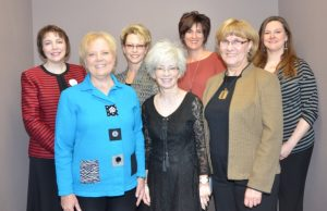 The committee who organized the VHP Day in Illinois. From left, front row: Teresa Kordick, Julie Van Cleve, Patti Ziegler. Back row: Kelli Mulcahy, Pam Burkle, Carrie Nauman, and Amanda Kieler. (Not pictured: Dixie Rash and Kelly Pieper)