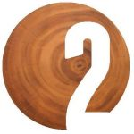 Number 2 overlaid a wooden stump