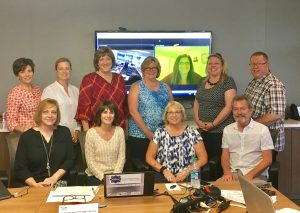 Members of NCRA's Test Advisory Committee. Karyn Menck attended remotely.